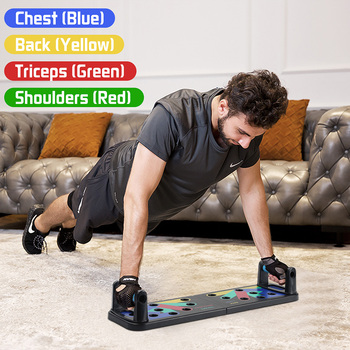 Push Up Rack Board 11-in-1 Bracket Full Body Building Fitness Exercise Push-up Stands Training System Workout Home Equipment New 1