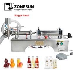 ZONESUN Pneumatic Piston Liquid Filler Shampoo Water Wine Milk Juice Vinegar Oil Detergent Soap Hand Sanitizer Filling Machine