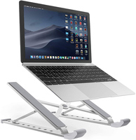 Laptop Mounts,Adjustable Portable Laptop Holder Desk for MacBook Pro Air Lenovo HP ASUS Dell More 10 15.6 inches Laptop tablets
