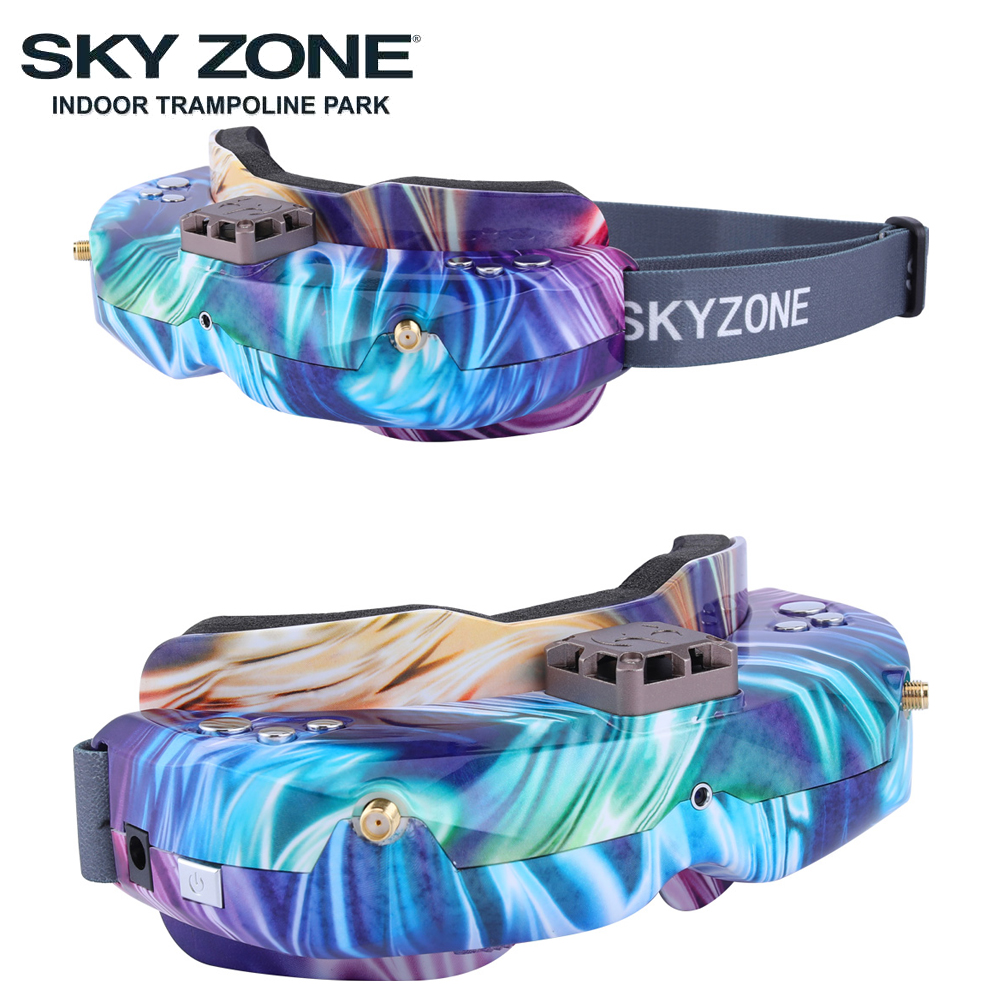 Image 3 - SKYZONE SKY02C/SKY02X 5.8Ghz 48CH FPV Goggles Support 2D/3D HDMI Head Tracking With Fan DVR Camera For RC Plane Racing FPV DroneParts & Accessories   -