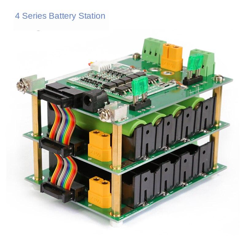DIY 16.8v Solder-Free 4-String 18650 Lithium Battery Management System BMS Battery Box
