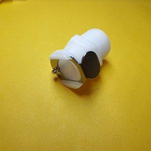 Image 1 - 1 قطعة 1/8 1/4 3/8 CPC أنثى سريعة قطع NPT مترابطة البلاستيك CPC موصل سريع مع صمام