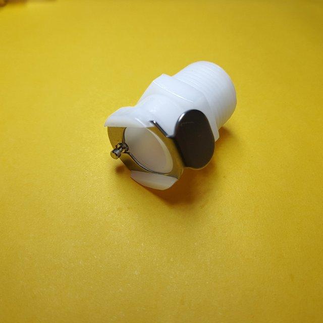 1 قطعة 1/8 1/4 3/8 CPC أنثى سريعة قطع NPT مترابطة البلاستيك CPC موصل سريع مع صمام
