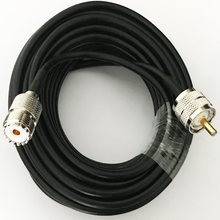 Coaxial Cable RG58 UHF PL259 male to UHF SO239 Female connector Pigtail Coax cable 15/50cm 1m 2m 3m 5m 10m 15m 20m 30m