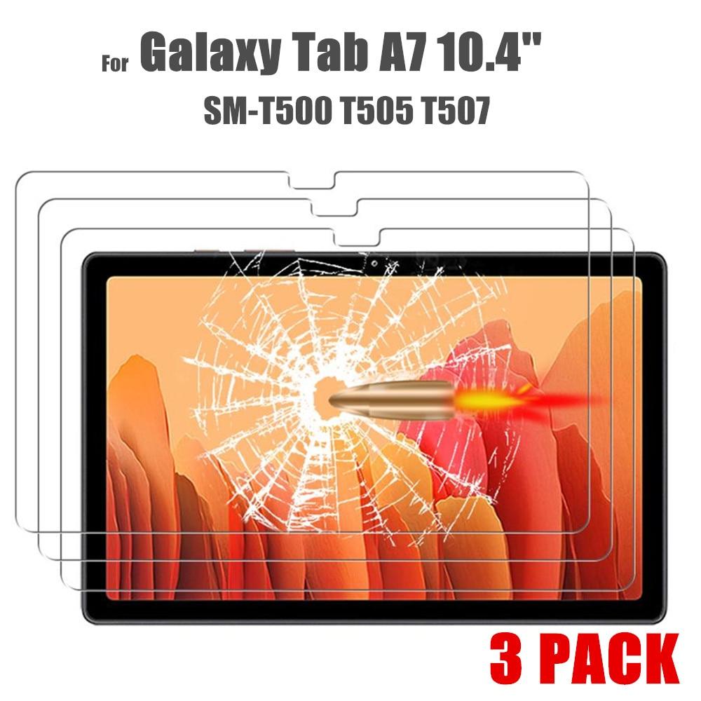 3 peça protetor de vidro para samsung galaxy tab a7 10.4 2020 tela película protetora para samsung galaxy tab a7 SM-T500 t505 t507
