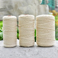 Natural bege macio algodão torcido cabo corda artesanato artesanal corda diy amarrando fio corda 1-10mm de diâmetro