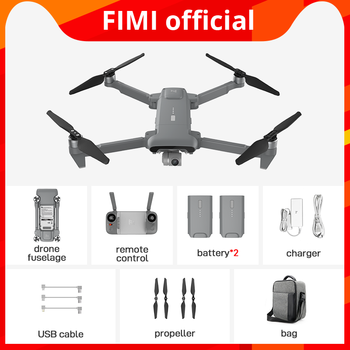 FIMI X8SE 2020 Black Camera Drone cmbo 2battery bag professional Helicopter RC drone 8KM FPV 3-axis Gimbal 4K Camera GPS 35mins