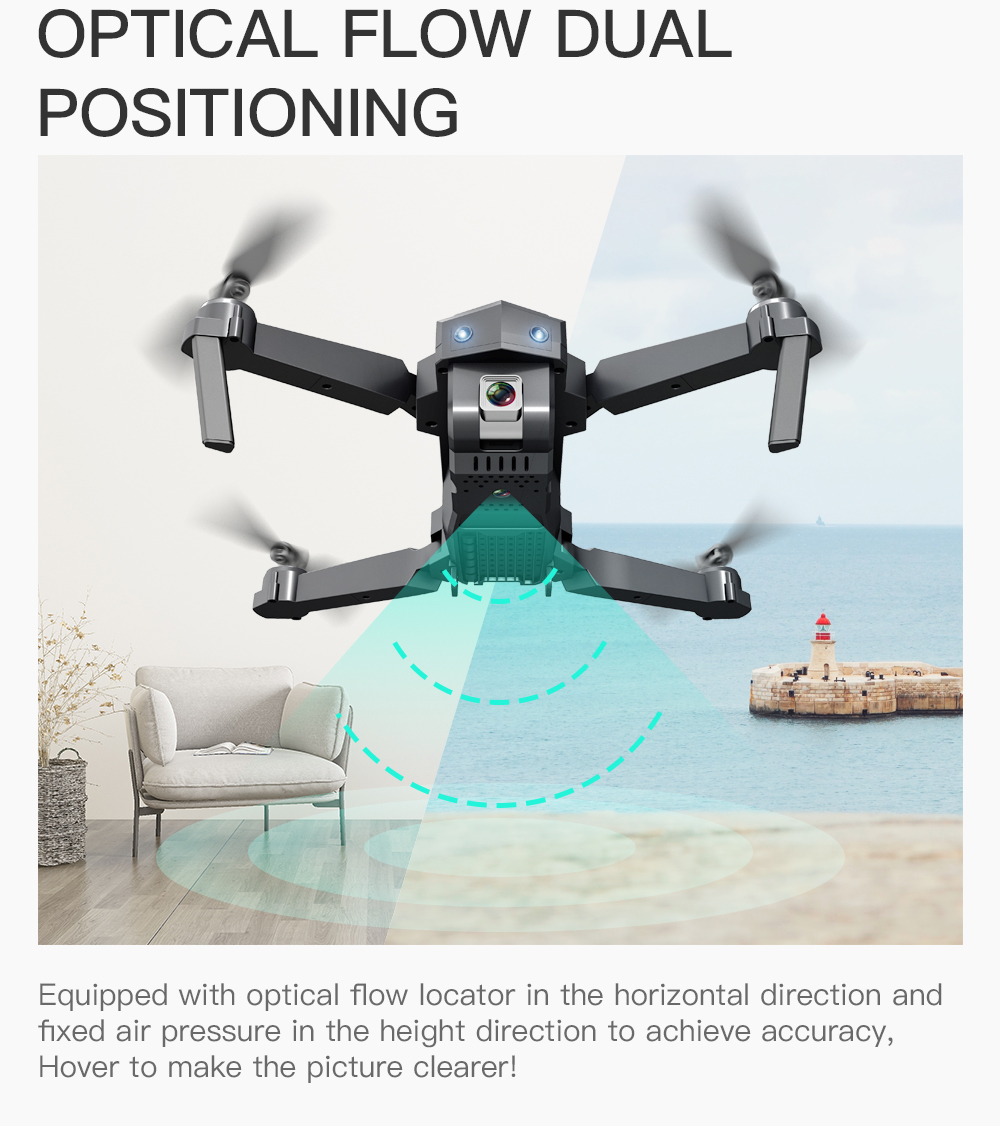 Profession Drone 4K 16MP FPV WIFI Transmission HD Camera Optical flow Hover Rc Helicopter Quadcopter Helicopter with Camera