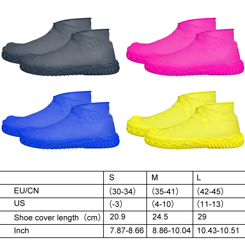 Unisex Wear Resistant Waterproof Shoe Protector Made of Silicone Material with a Non Slip Textured Sole for Outdoor in Rainy Days 10
