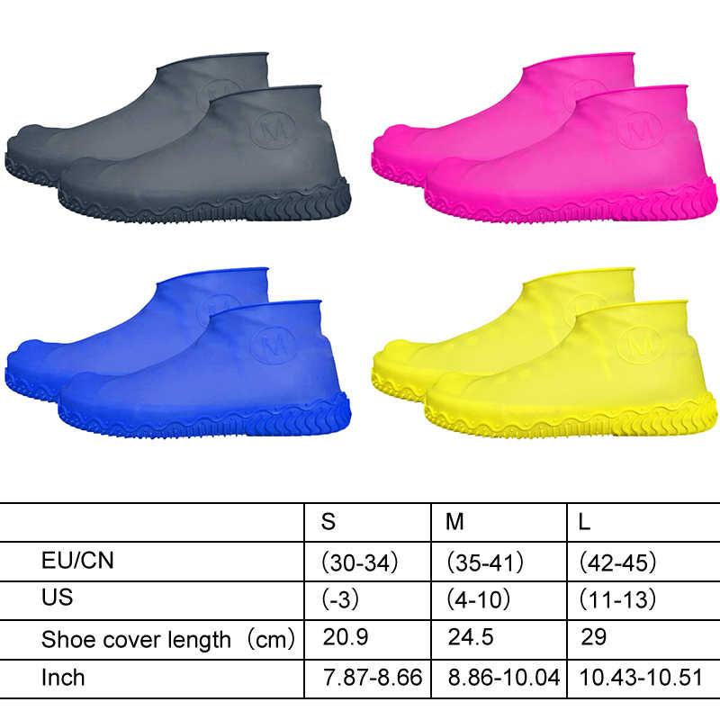 Material de silicona Unisex impermeable cubierta de zapatos cubiertas de zapatos de lluvia organizadores protectores Botas de lluvia para días de lluvia al aire libre