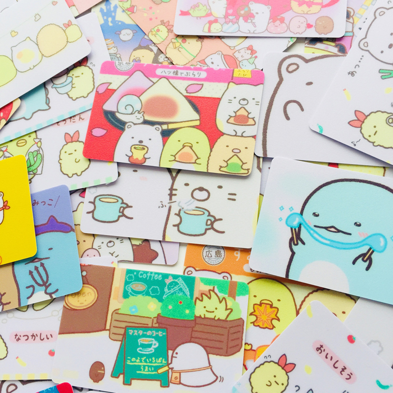 5pcs/lot Cute Sumikko Gurashi Decorative Sticker For Bank Bus Card Decoration