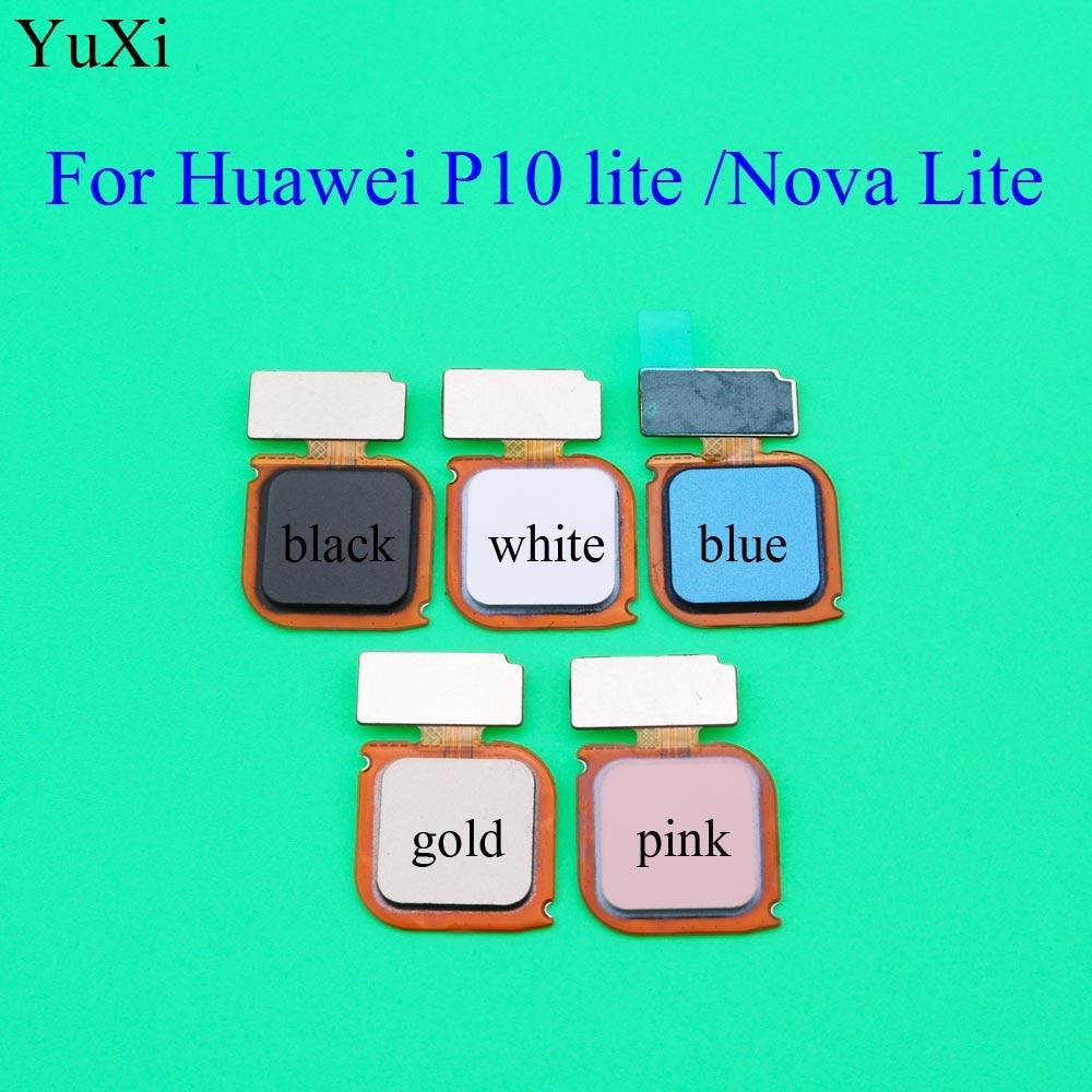 YuXi New Fingerprint Sensor Scanner Flex Cable Home Button Return Key For Huawei P10 Lite/Nova Lite