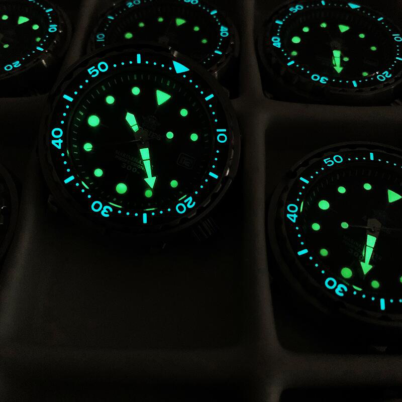 Addies Dive Men's Automatic Watch NH35A Sapphire Crystal Ceramic bezel BGW9 Luminous 30bar steel Tuna diver Men watch watches 2