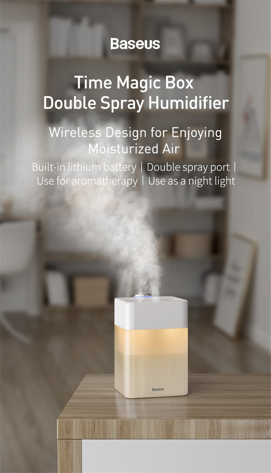 Baseus Time Magic Box Dual Spray Humidifier 4