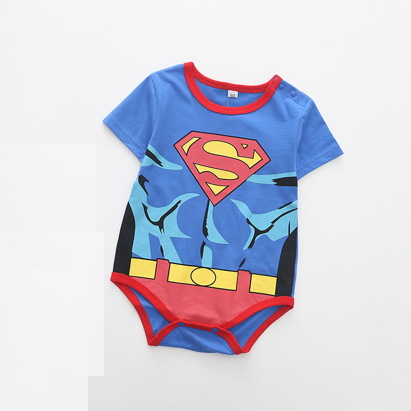 100% Cotton Newborn Baby Summer Baby Girl Clothes Baby Boy Rompers Baby Rompers Cartoon ropa bebe Clothing Short Sleeve 2