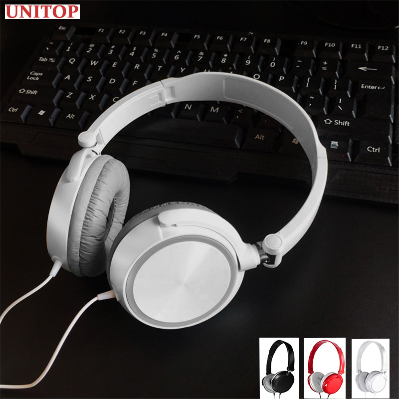 UNITOP Gaming Headset Stereo Wired Bass Headphones 3 5mm With Mic For Mobile Phone PC Laptop Hifi Earphone Computer