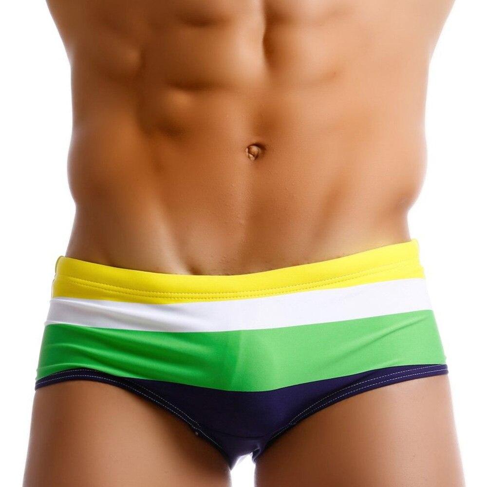 2019 Push Up Pad Mens Swim Briefs Sexy Gay Men Swimwear Bikini Swimsuit Swimming Trunks Male Beach Bathing Suit Surf Wear Sunga