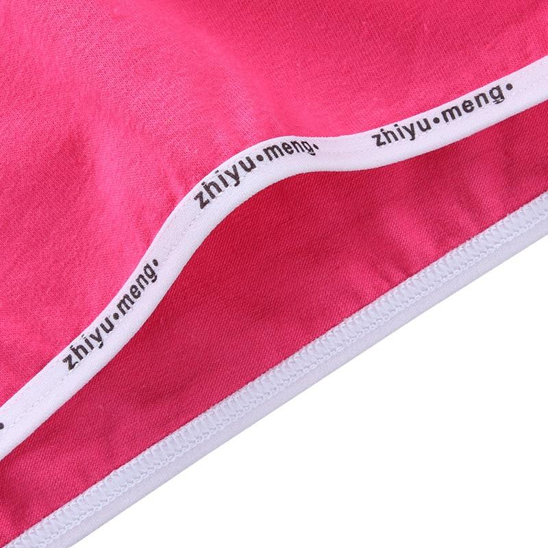4pcs/Lot Training Bras Teenage Letter Vest Cotton Spandex Topic Brassiere 8-14Years 6