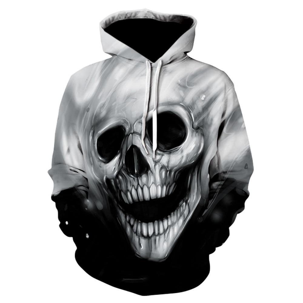 Men's Fashion 3D Hoodies Men Melted Skull 3D Full Print Novelty  Harajuku Hoody Sweatshirt Hip Hop Pullover Tracksuits