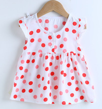 Baby Girls Toddler Cotton Dot Flower Dress Vestidos Princess Dresses Casual Clothes Kids Clothing Sundress w l monsoon baby girls dress with sashes 2017 autumn brand princess dress girls clothing flower kids dresses children clothes