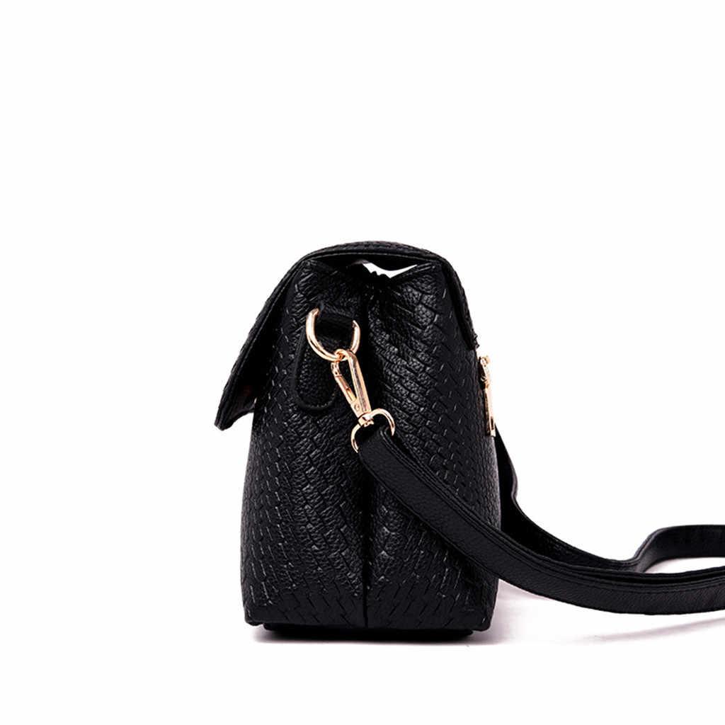 אופנה נשים תיק עור תיקי PU כתף תיק קטן דש מוצק Crossbody שקיות נשים שליח שקיות Bolsas Femininas