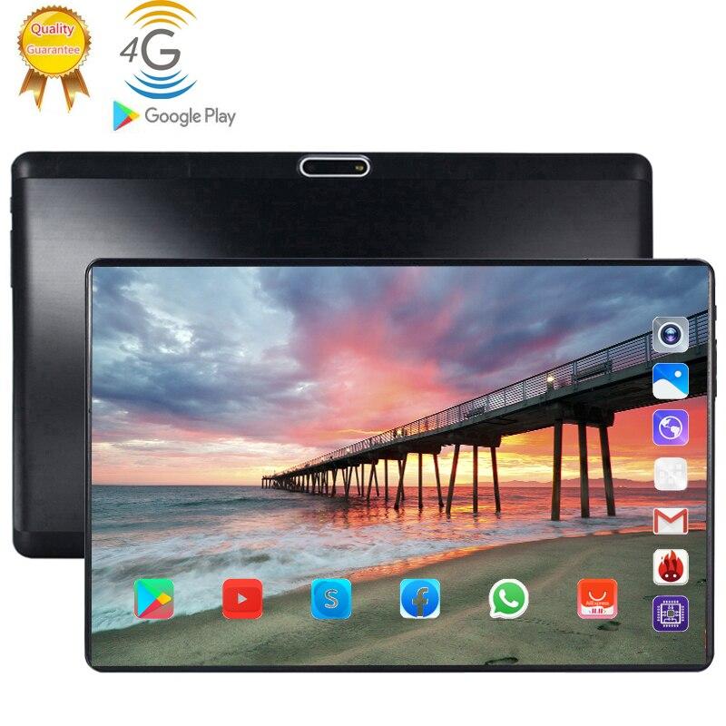 2020 10.1 Inch Tablet PC FHD 1280 800 IPS 4G LTE Phone Call Tablets 8 Core 6GB RAM 128GB ROM Dual SIM Card WiFi GPS Bluetoot 10