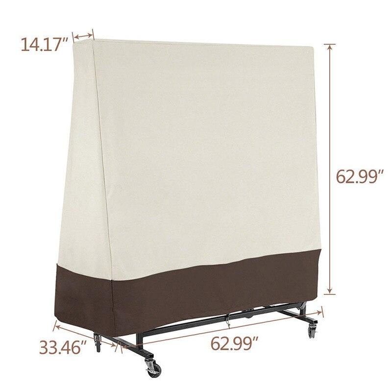 Protector de mesa de ping pong para exteriores 300D resistente al agua resistente a los rayos UV funda de fundas de almacenamiento de polvo de mesa de ping pong Fundas sofá elástico para sala de estar funda de sofá elástica seccional antideslizante Toalla de sofá asiento individual/dos/tres/cuatro