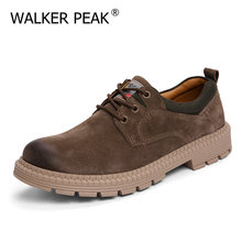 Men Shoes Footwear Male Breathable Genuine-Leather Luxury Brand Trend England Chaussure
