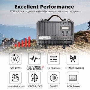 Image 2 - Tùy chỉnh Song Công Mini Đồng Hồ Đeo Tay Repeater RETEVIS RT97 2 Chiều Đài Phát Thanh Repeater 10W UHF (hoặc VHF) repeater Cho Bộ Đàm