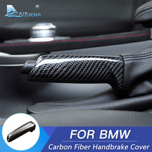 De fibra de carbono Universal coche freno de mano puños cubierta Interior para BMW 1, 2, 3, 4 Series E46 E90 E92 E60 E39 F30 F34 F10 F20 Accesorios