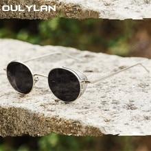 YOOSKE Punk Sunglasses Women Men Brand Designer Steampunk Sun Glasses Ladies Ant