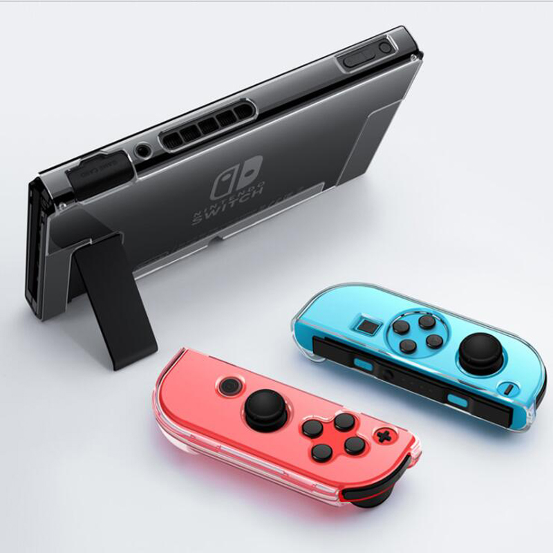 Clear PC Hard Case Protective Cover Shell For Nintend Switch Console Joy-Con Controller Crystal Transparent Full Body Protector