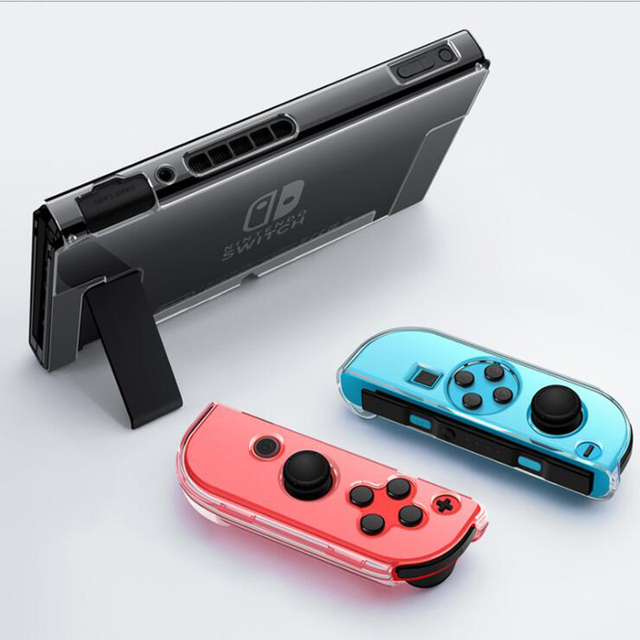 Clear PC Hard Case Protective Cover Shell for Nintend Switch Console Joy Con Controller Crystal Transparent Full Body Protector