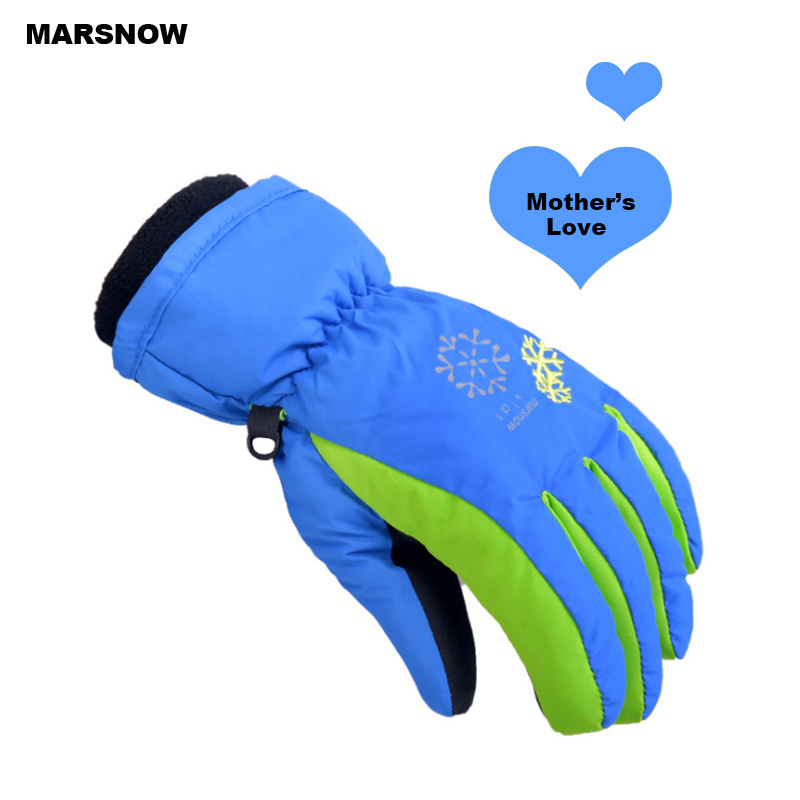 SG20K  Winter Children's  Waterproof Snow Gloves Outdoor Kid's Skiing Gloves Snowboarding Gloves For 4~7 Years Children