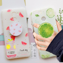 New Fruit Case For Huawei p9 p10 lite plus y5 2018 Case Back TPU Cover for Huawei p8 lite 2017 y6II honor 7x 5x 8 Cases holder