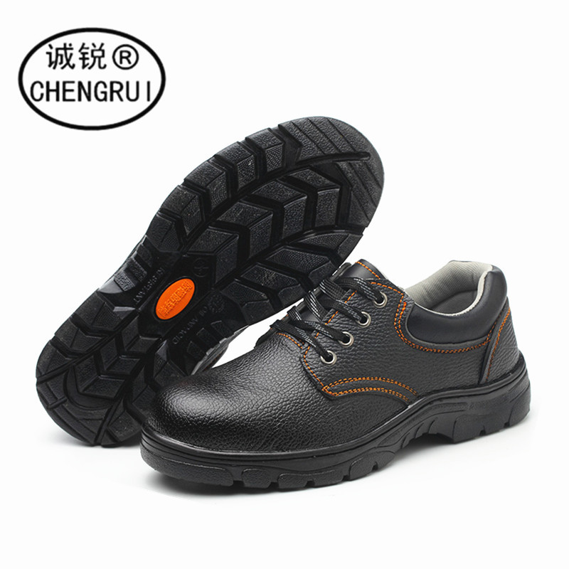 Safety Shoes Anti-smashing And Anti-penetration Low Top Wear-Resistant Corrosion-Resistant Steel Head Safety Shoes