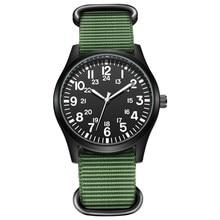 Air Force Men Pilot Watch Nylon Strap Sport Outdoor Clock 24H Display Quartz Wristwatch Relogio Masculino