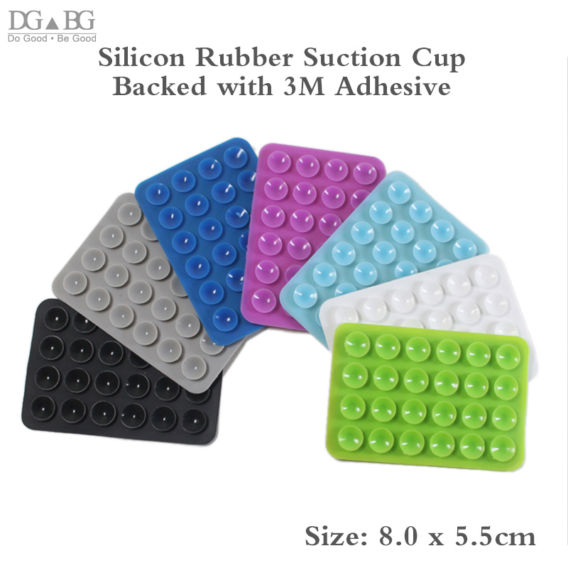 DIY Silicone Rubber Sucker Pad Backed 3M Sticker High Quality Suction Cup For VR Mobile MP4 GPS Accessories