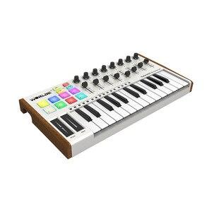 Image 2 - WORLDE TUNA 25 Key midi keyboard midi controller Mini Ultra PortableUSB Controller 8 RGB Backlit Trigger Pads controlador midi