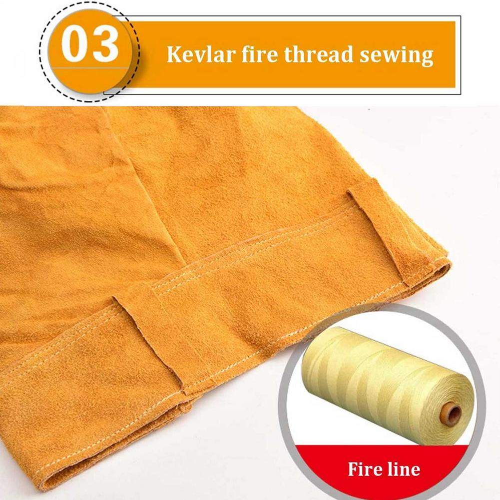Tools : Suit High-neck Heat-resistant Male Cowhide Welding Clothing Flame-retardant And Splash-proof Welding Clothing