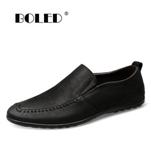 High Quality Genuine Leather Men Shoes Casual Slip On  Men Loafers Moccasins Designer Men Flats Comfy Driving Shoes Dropshipping mycolen 2018 men slip on loafers shoes leather comfortable designer male flats trendy high quality shoes chaussures homme