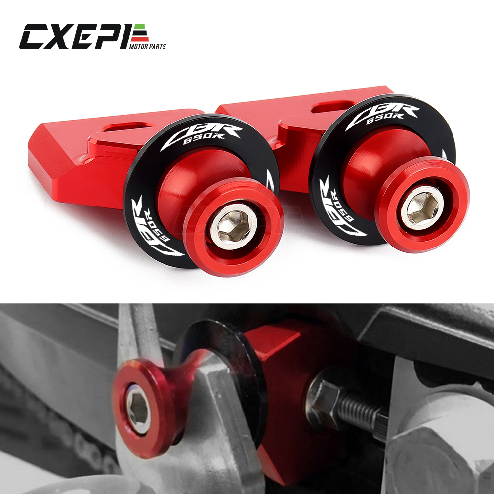 For Honda CBR650R CB650R CBR650F CB650F CBR 650R/650F Motorcycle CNC Chain Adjustment Block Frame swingarm Spools sliders