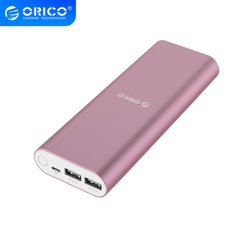 Внешняя батарея ORICO 20000 мАч, литий-полимерная батарея 5V2.1A, двойной выход, зарядное устройство с индикатором зарядки для Samsung, Xiaomi