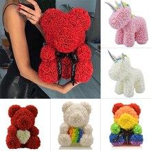 2020 gorąca sprzedaż mydło pianka niedźwiedź róż miś Rose Flower sztuczne dekoracje ślubne świąteczne prezenty walentynkowe dla kobiet