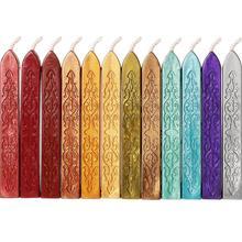 14 цветов, уплотнительные восковые палочки с фитингами, античный огненный рукопись, уплотнительный воск для восковой печати, штамп