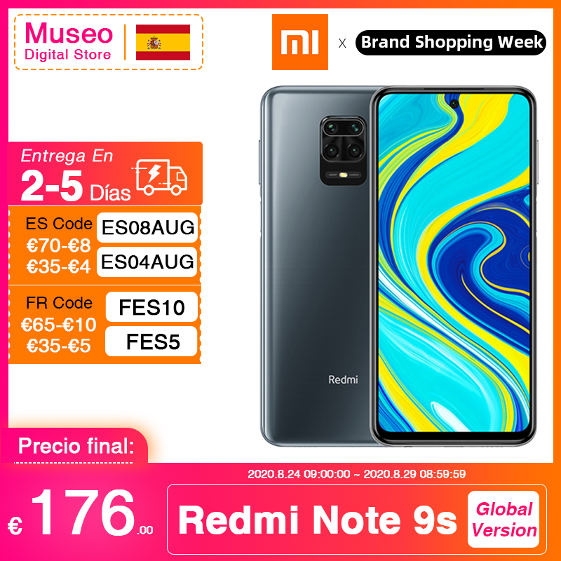 Global version Xiaomi Redmi Note 9S 6GB 128GB Snapdragon 720G 48MP AI Quad Camera Smartphone Note 9 S 5020mAh
