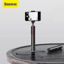 Baseus-Palo de selfi extensible con Bluetooth, trípode para cámara de teléfono inteligente con Control remoto inalámbrico para iPhone, IOS y Android