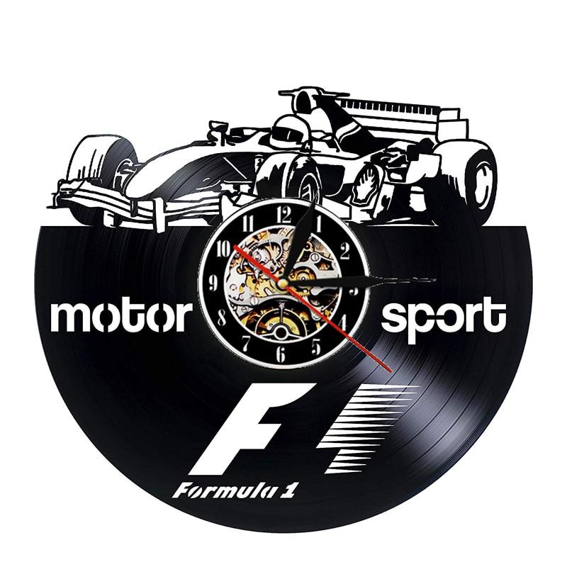 McLaren Formula 1 Vinyl Record Wall Clock Modern Design Racing Car F1 Theme 3D Decoration Hanging Clocks Wall Watch Home Decor