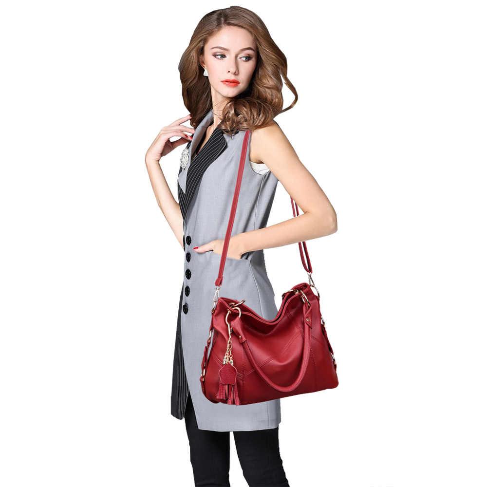 Lanzhixin bolsa feminina de couro, bolsa feminina feita em couro, estilo carteiro e de mão com alça superior