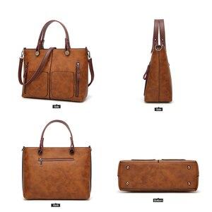 Image 4 - Tinkin vintage bolsa de ombro feminino totes causais para compras diárias